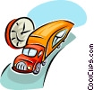 transport truck with the mail Vector Clipart illustration