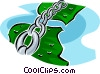 Vector Clip Art graphic  of a cultural links between