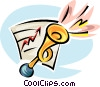 success, blowing your own horn Vector Clip Art image