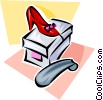 Vector Clipart illustration  of a shoes for sale