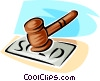 Vector Clipart illustration  of a judge's gavel