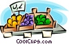 Fruit market Vector Clipart picture