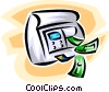 ATM machine with dollars Vector Clip Art picture