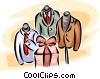 men's clothing retail garment display Vector Clip Art picture
