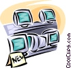 television and video retail sales Vector Clip Art image