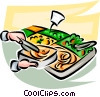 Vector Clip Art picture  of a Food bar