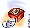 Vector Clip Art image  of a bar code with retail sales