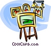 Vector Clipart picture  of an artwork