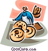 bread, bagel baker Vector Clip Art picture