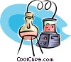 Vector Clip Art picture  of a science experiment