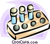 test tubes Vector Clipart illustration