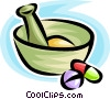 Vector Clipart picture  of a mortar and pestle