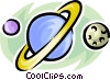 planets Vector Clipart graphic