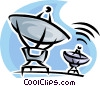 Vector Clip Art image  of a satellites