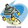 spacecraft Vector Clipart illustration
