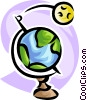 planet orbiting the earth Vector Clipart graphic
