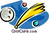 Vector Clip Art picture  of a shooting star