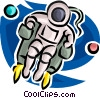 Astronaut with jet pack Vector Clipart picture