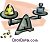 scale balancing precious metal Vector Clipart picture