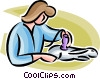 Vector Clipart picture  of a veterinarian