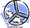 mouse on an exercise wheel Vector Clipart graphic