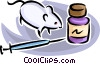Vector Clipart illustration  of a mouse with drugs