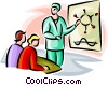 Vector Clipart picture  of a biology teacher
