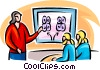 twin research Vector Clipart graphic