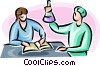 Vector Clipart illustration  of a researchers