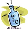 Vector Clipart image  of a bottle of water