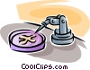 Vector Clipart picture  of a petri dish