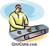 assembly line Vector Clip Art graphic