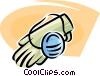 rubber gloves and a surgical mask Vector Clip Art picture