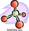 molecules Vector Clipart image