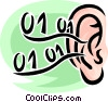 human ear Vector Clipart picture