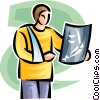 x-ray Vector Clipart illustration