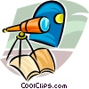 telescope looking at the moon Vector Clipart image