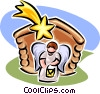 nativity scene Vector Clipart picture