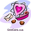 Valentine chocolates Vector Clipart illustration