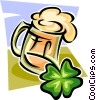 Vector Clip Art graphic  of a St. Patrick's Day celebrations