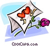 Vector Clipart image  of a Valentine card