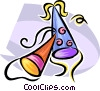 party hats Vector Clipart image