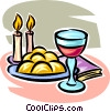 Vector Clipart graphic  of a wine
