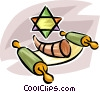 Vector Clip Art image  of a Judaism