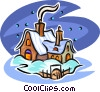 winter house Vector Clipart picture