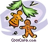 gingerbread cookies Vector Clipart illustration
