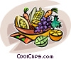 bowl of fruit Vector Clip Art picture