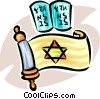 Vector Clipart graphic  of a Judaism