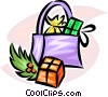 Vector Clip Art graphic  of a Christmas gifts