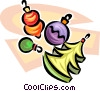Vector Clip Art image  of a Christmas decorations
